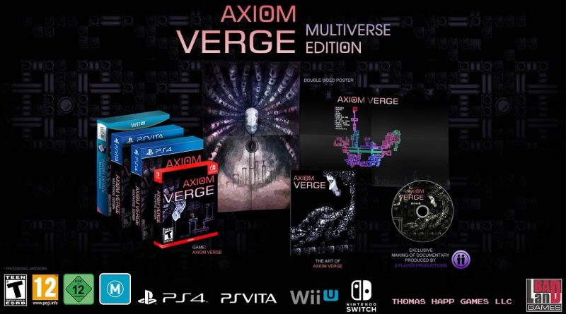"Badland Games donating 75% of their ""Axiom Verge"" share to help Tom Happ's son"