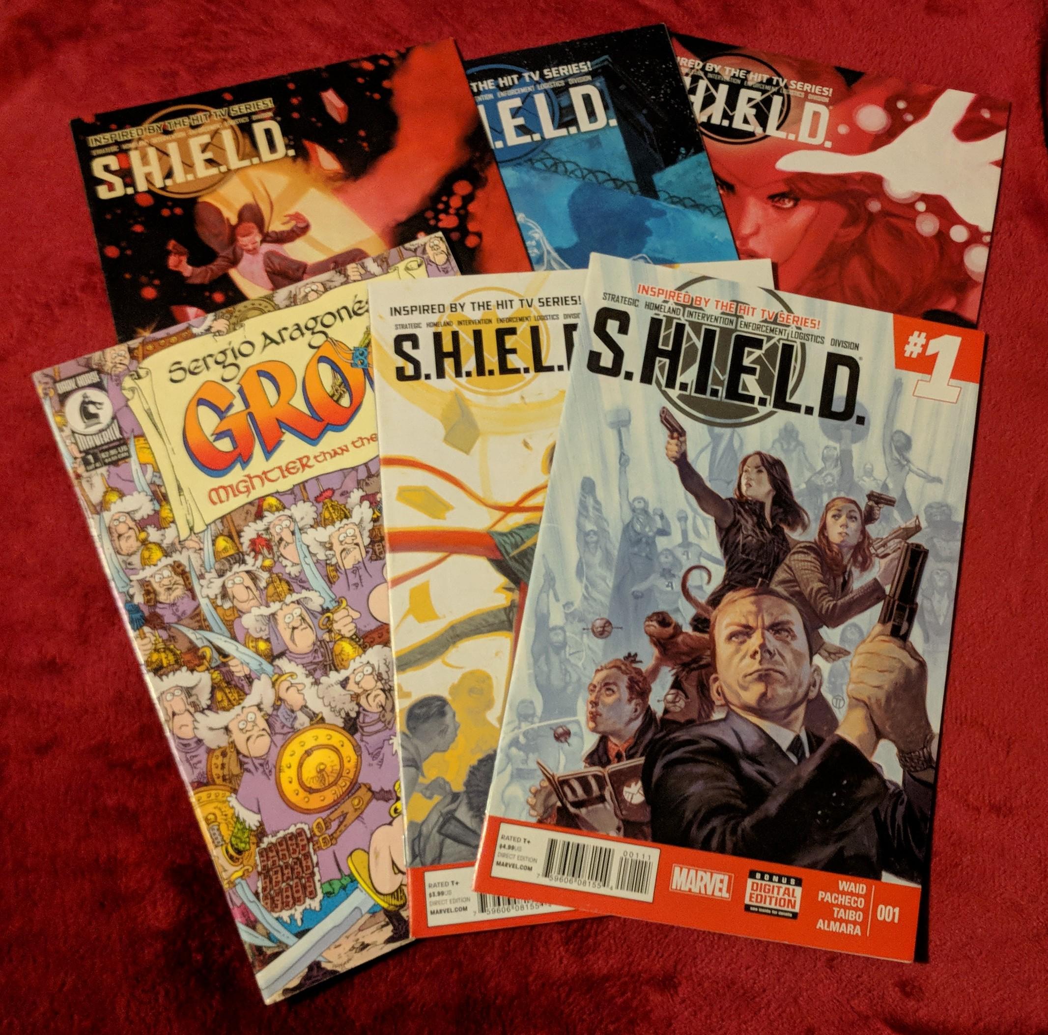 S.H.I.E.L.D and Groo comics
