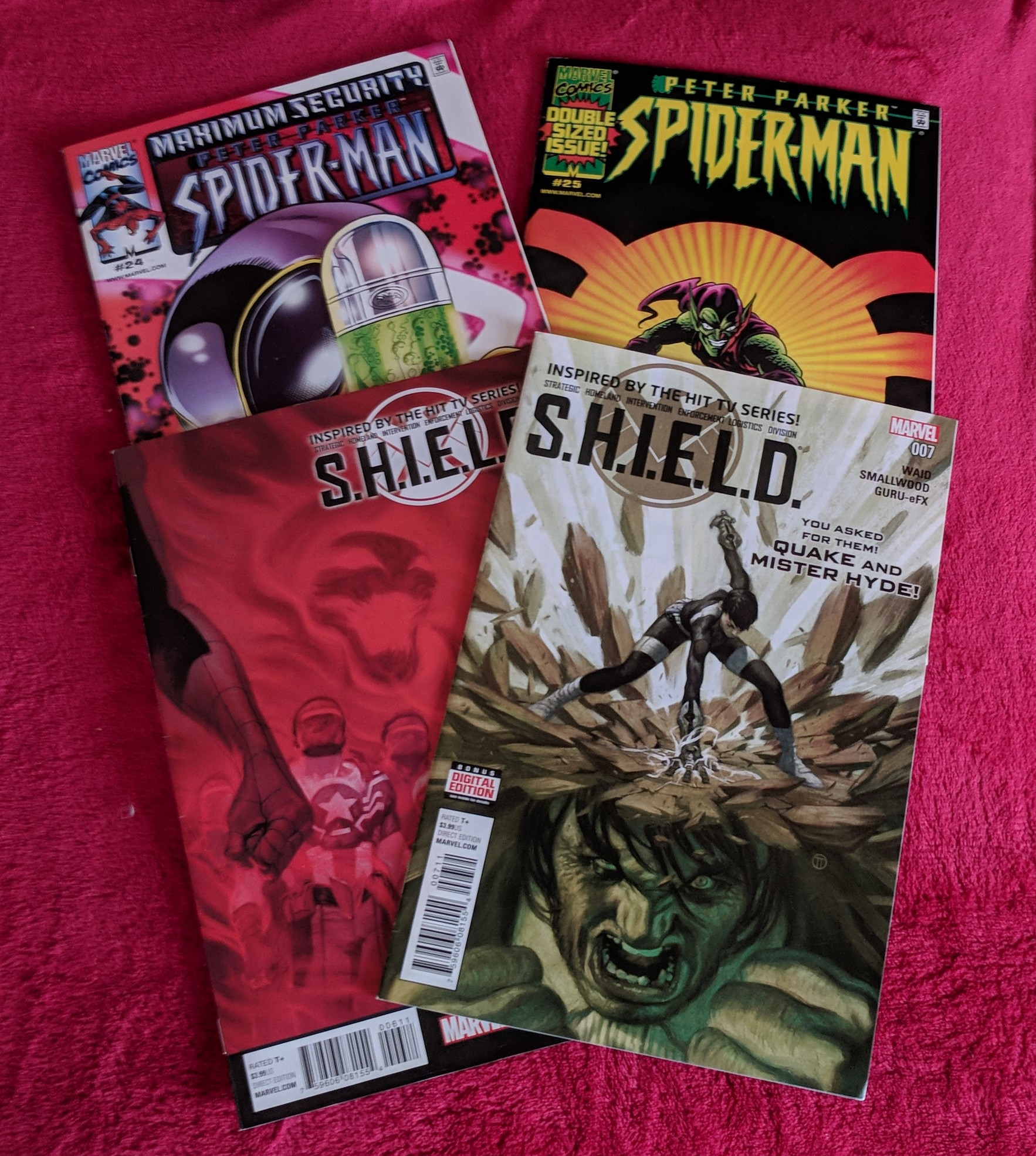SHIELD and Spiderman comics